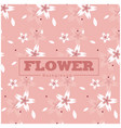 flower sakura pattern pink background image vector image vector image
