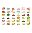 Food market flat icons vector image vector image