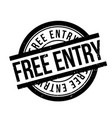 free entry rubber stamp vector image vector image
