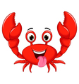 funny cartoon crab vector image vector image