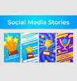 game tournament poster social media stories vector image