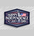 greeting card for independence day vector image vector image