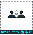 Group people icon flat vector image vector image