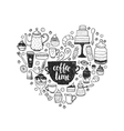 Hand drawn coffee time vector image vector image