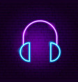 headphones neon sign vector image