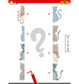 join halves of cat characters activity game vector image