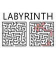 labyrinth with solution on white background vector image
