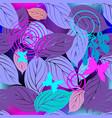 leafy decorative seamless pattern ornamental vector image vector image