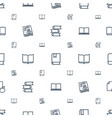 library icons pattern seamless white background vector image vector image