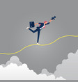 life and work balance concept vector image vector image