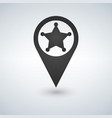 map pointer sheriff star flat design style vector image vector image