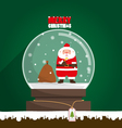 Merry Christmas Santa Claus in snow globe vector image vector image