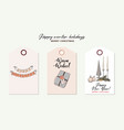 merry christmas tender rose gold hand-drawn vector image vector image