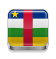 Metal icon of Central African Republic vector image