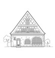 old typical house design vector image vector image