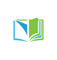 open book education logo vector image vector image