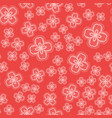 ornamental flowers seamless tile vector image