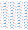 pastel geometric wave shapes pink and blue vector image vector image
