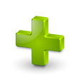 Plus or medical cross symbol vector image vector image