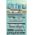 Public Transport Orthogonal Concept vector image vector image