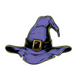 purple witch hat vintage template vector image vector image