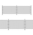 realistic detailed 3d metal fence wire mesh vector image vector image