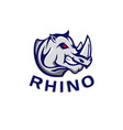rhino logo template vector image vector image