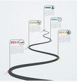 road infographic with pointers timeline vector image