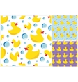 rubber duck pattern vector image