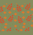 seamles autumn leaves pattern vector image vector image