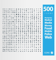 Set of 500 Quality icon vector image