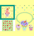 set of templates for birthday party card vector image vector image