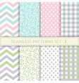 set seamless patterns in pastel colors vector image