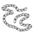 Shiny precious silver chain jewelry vector image vector image