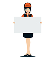 Signs employee vector image