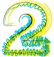 Sketch font Number 2 vector image vector image