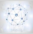 social media connection concept vector image vector image