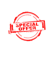 Special offer rubber stamp on white vector image vector image