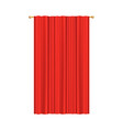 stage theater or movie lateral curtain red vector image