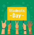 students day concept background flat style vector image