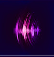 techno background with crcular sound vibration vector image vector image