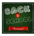 Textposter in american retro style Back to school vector image vector image
