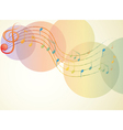 The G-clef and the musical notes vector image vector image