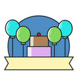thin line icons of special event and birthday vector image vector image
