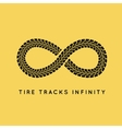 Tire Tracks in Infinity Form vector image vector image