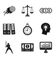 Triumph icons set simple style