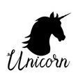 unicorn head mythical horse vector image vector image