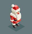 winter santa claus grandfather christmas character vector image vector image