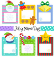 witer name tag vector image vector image