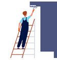 worker painting wall home repair service man in vector image vector image
